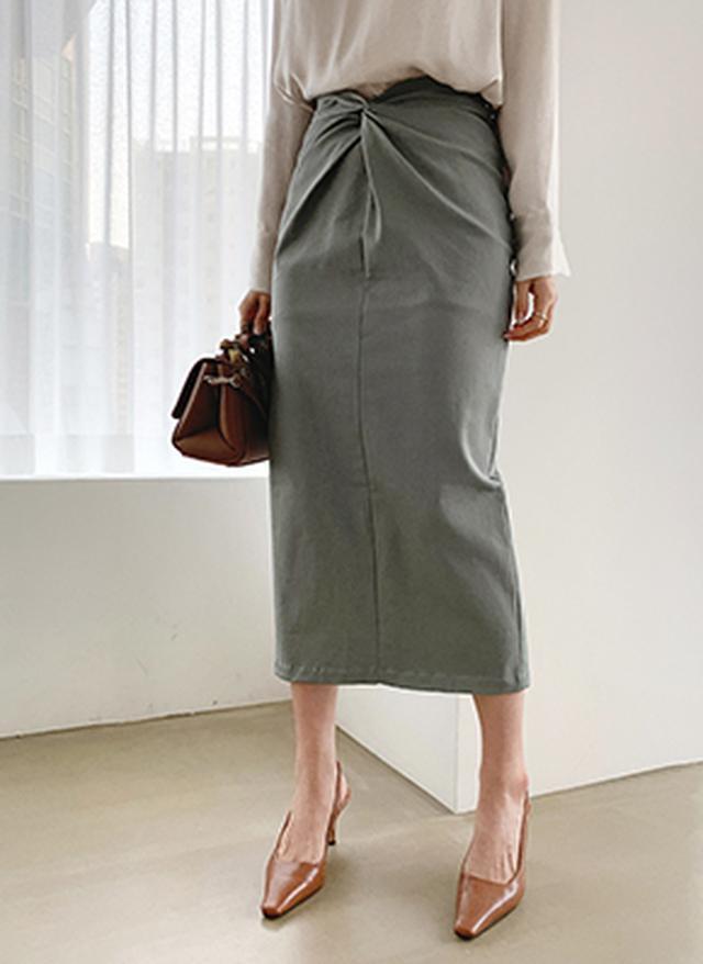 画像: [DHOLIC] ツイストHラインスカート・全3色|レディースファッション通販 DHOLICディーホリック [ファストファッション 水着 ワンピース]