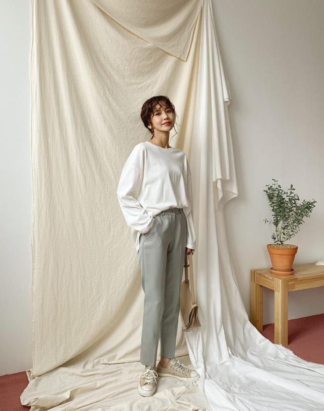 画像: スリムスラックスパンツ・全6色・t57147 ¥2,574 (税込)