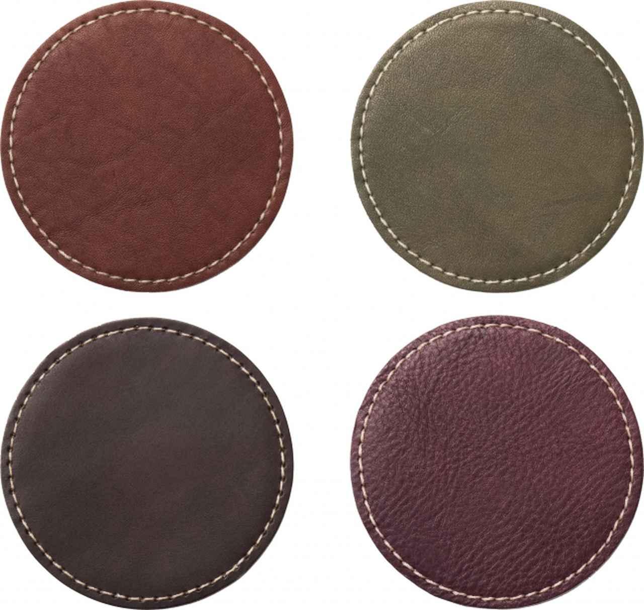 画像: ▲左上からブラウン、オリーブ、ダークブラウン、ボルドー