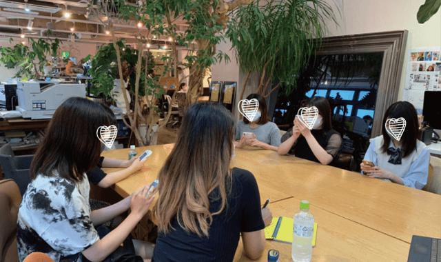 画像: ミーティングの様子 ※コロナ対策にてマスク着用でミーティングを行っています。