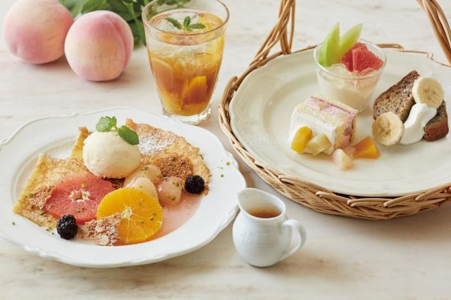 画像1: 桃、メロン、グレープフルーツなどフルーツづくし!「フルーツTEA&スイーツ」
