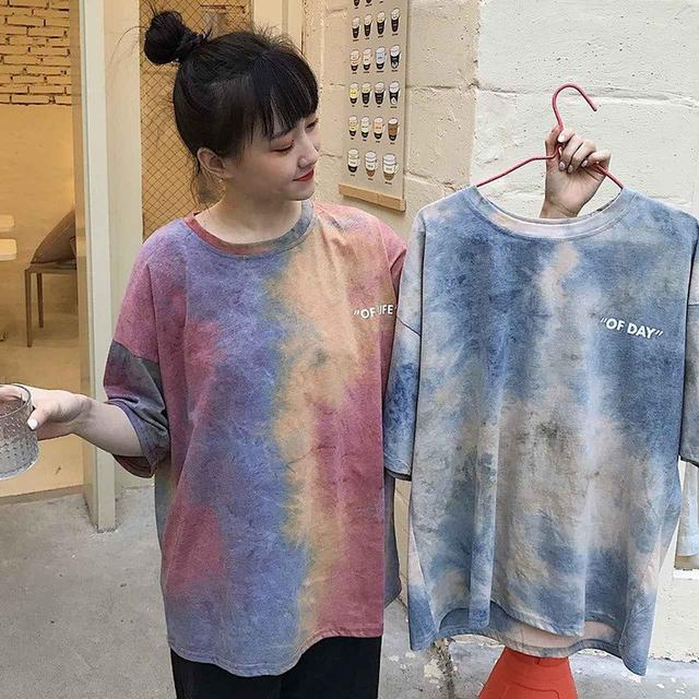 画像1: タイダイ染め ビッグサイズTシャツ