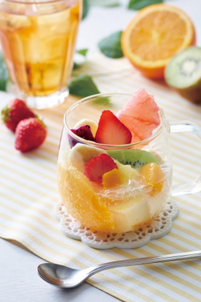 画像3: 桃、メロン、グレープフルーツなどフルーツづくし!「フルーツTEA&スイーツ」