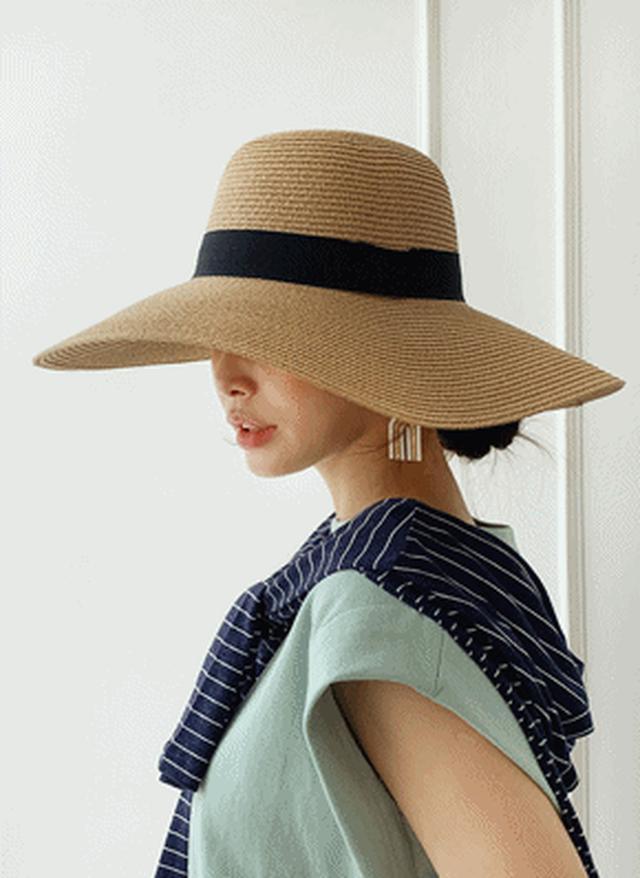 画像: [DHOLIC] リボンワイドブリムハット・全4色アクセサリーキャップ・帽子・ニット帽|レディースファッション通販 DHOLICディーホリック [ファストファッション 水着 ワンピース]