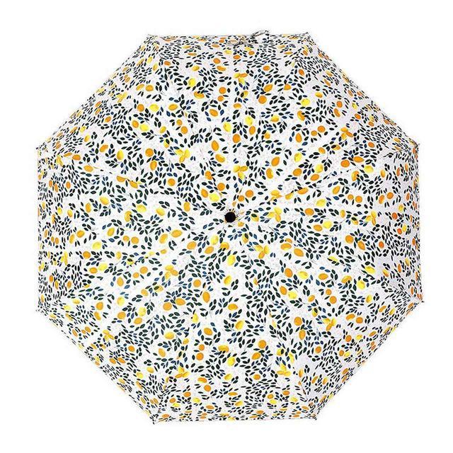 画像1: [Qoo10] 日傘 折りたたみ傘 レディース おしゃれ 3段折りたたみ傘 レモン 晴雨兼用 日傘 雨傘 UVカット 紫外線対策 遮光 遮熱 折りたたみ 2色
