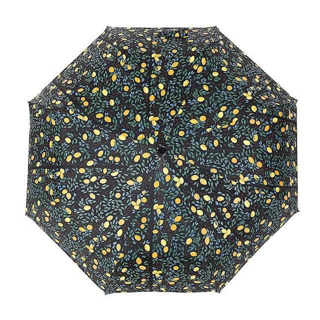 画像2: [Qoo10] 日傘 折りたたみ傘 レディース おしゃれ 3段折りたたみ傘 レモン 晴雨兼用 日傘 雨傘 UVカット 紫外線対策 遮光 遮熱 折りたたみ 2色