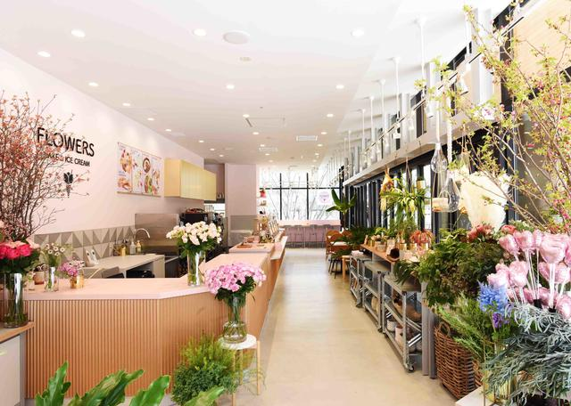 画像3: 体験型フラワーショップとカフェの複合店舗フラワーライフスタイルブランド 「FLOWERS BAKE & ICE CREAM」がオープン