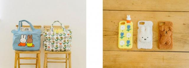 画像: (右)カゴエコバック 各¥2800+税 (左)シリコンモバイルケース ¥2000+税 ふわふわモバイルケース 各¥2800+税
