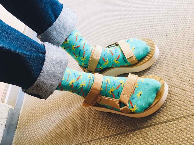 画像4: Happy Socks 店舗スタッフおすすめ!Happy Socks x サンダルコーデ