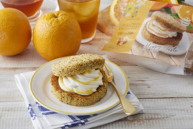 画像: Afternoon Tea監修「オレンジアールグレイの紅茶シフォンサンド」(本体 230 円、税込 248 円)