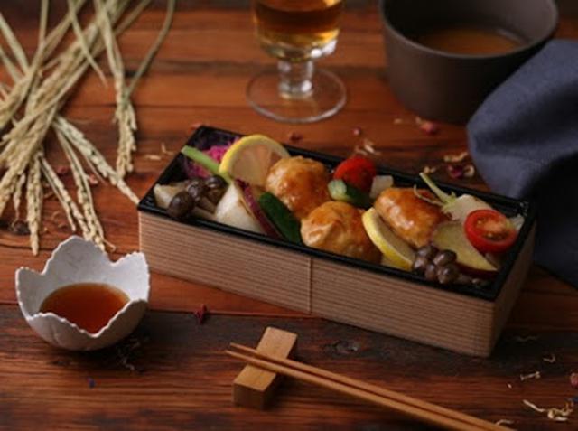 画像: 鶏つくねと彩り野菜+ごはん