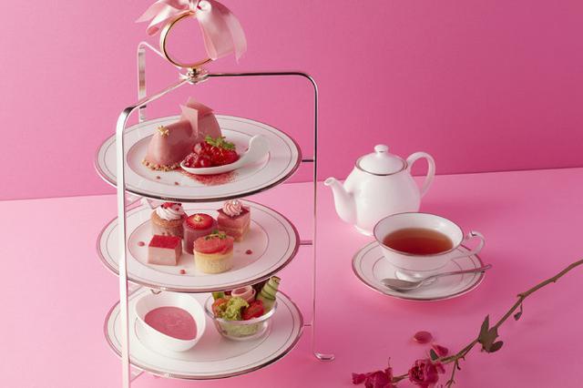 画像1: ピンクづくしの華やかなアフタヌーンティーセットが登場!