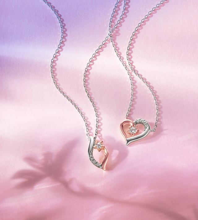 画像: From left Eternal Silver/K10PG Necklace/ CZ ¥16,000+Tax Eternal Silver/K10PG Necklace/ CZ ¥16,000+Tax