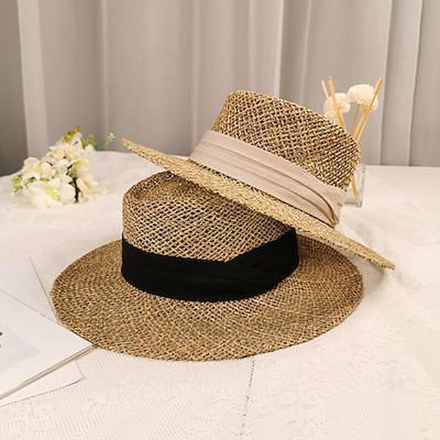画像: [Qoo10] DISCOVER THE SEASON : 麦わら帽子 ビッグハット 日よけします : メンズバッグ・シューズ・小物