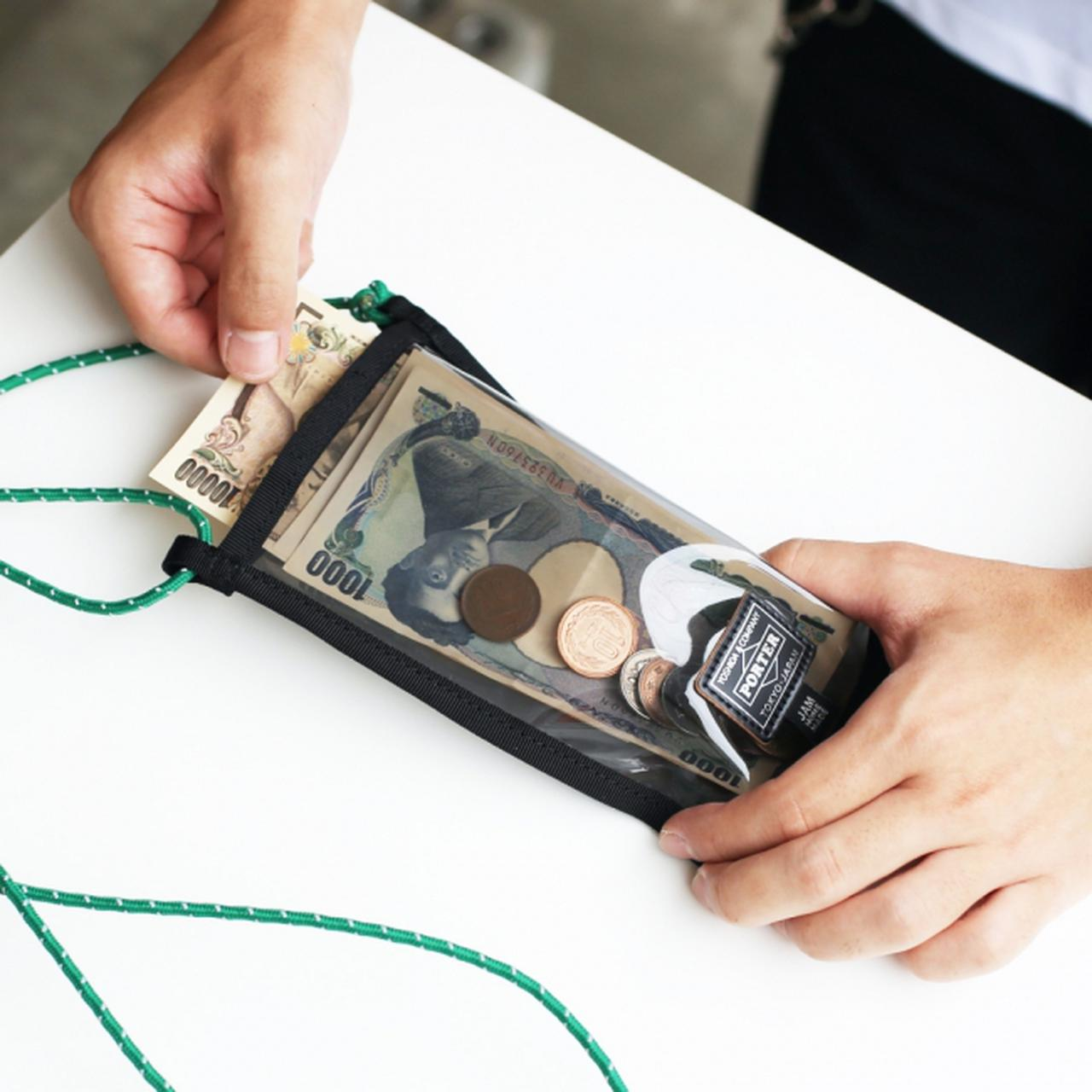 画像: M サイズはお札がスッポリ入るサイズ。