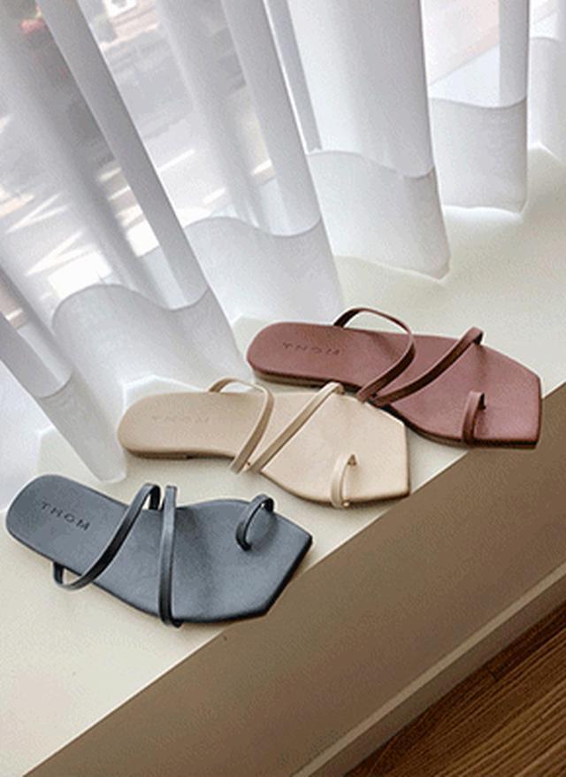 画像: [DHOLIC] サムループツーストラップサンダル・全4色シューズ・靴サンダル|レディースファッション通販 DHOLICディーホリック [ファストファッション 水着 ワンピース]