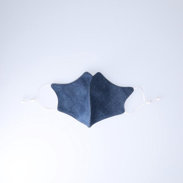 画像: ■和紙デニムマスク カラー:インディゴ 価格:1,200円(税抜き)