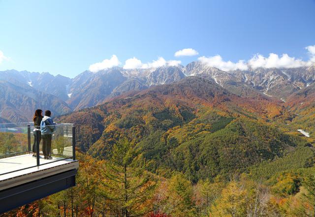画像: 紅葉に染まる北アルプスの絶景を独り占め