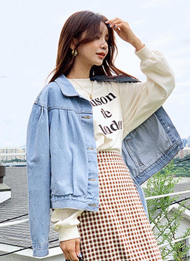 画像: [DHOLIC] タックデニムジャケット・全2色アウタージャケット・ブレザー|レディースファッション通販 DHOLICディーホリック [ファストファッション 水着 ワンピース]