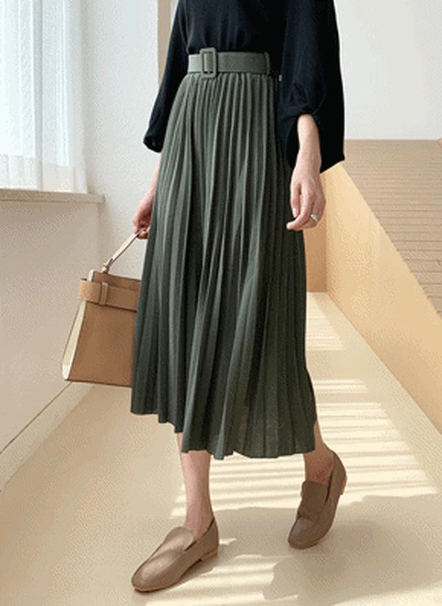 画像: [DHOLIC] ベルト付プリーツスカート・全5色スカートスカート|レディースファッション通販 DHOLICディーホリック [ファストファッション 水着 ワンピース]