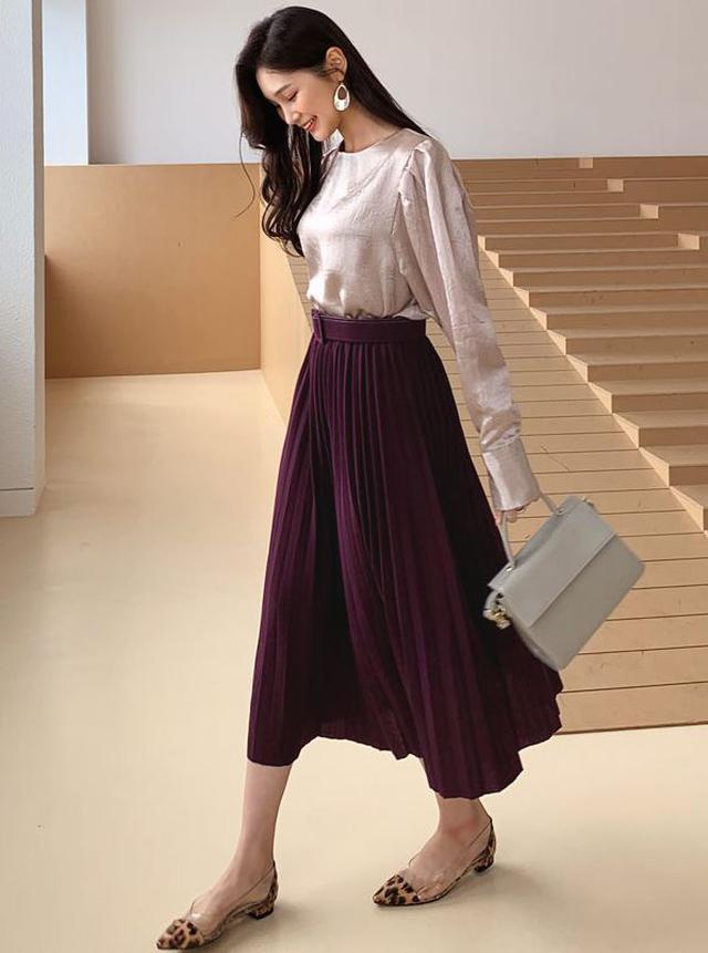 画像2: ベルト付プリーツスカート ¥2,962 (税込)