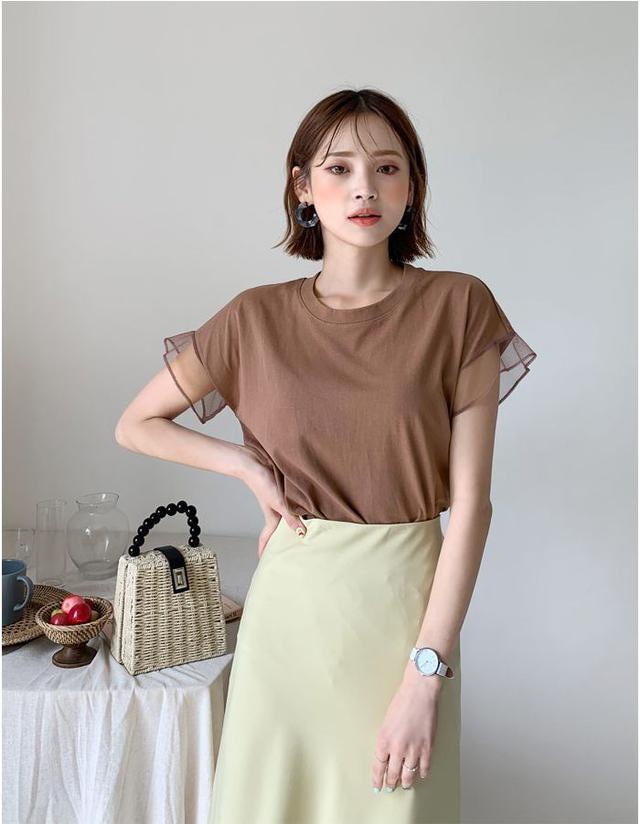 画像1: メッシュスリーブTシャツ ¥2,515 (税込)