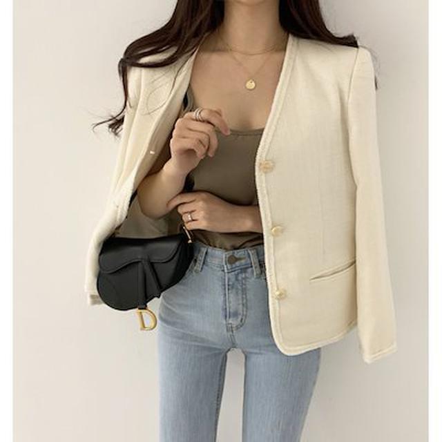 画像: ブレザーで大人の女っぽジャケットコーデの完成