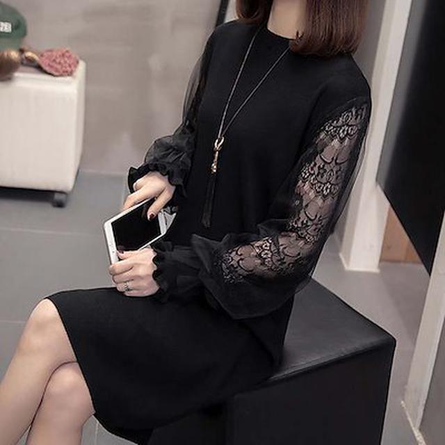 画像: [Qoo10] ニットワンピース レディース 40代 秋 : レディース服