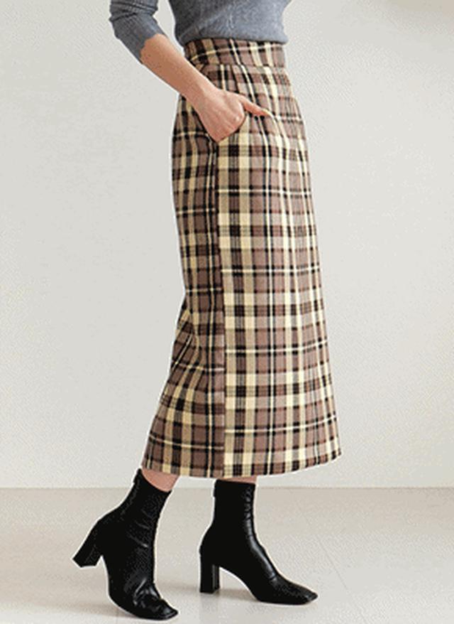 画像: [DHOLIC] チェックHラインスカート・全2色|レディースファッション通販 DHOLICディーホリック [ファストファッション 水着 ワンピース]