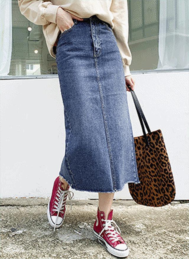 画像: [DHOLIC] デニムHラインスカート・全1色スカートデニム|レディースファッション通販 DHOLICディーホリック [ファストファッション 水着 ワンピース]