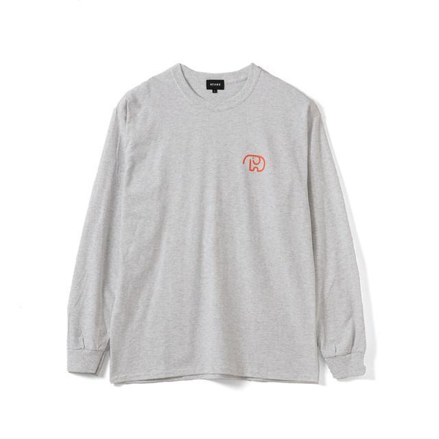 画像: DOM DOM × BEAMS コラボレーション ロングスリーブTシャツ(グレー)