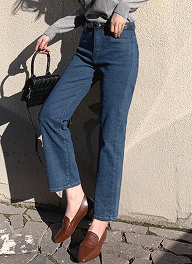 画像: [DHOLIC] 裏起毛ストレートデニムパンツ・全2色パンツ・ジーンズ|レディースファッション通販 DHOLICディーホリック [ファストファッション 水着 ワンピース]