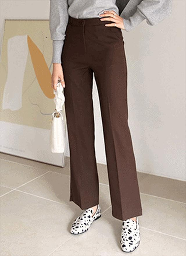 画像: [DHOLIC] 裏起毛スリットスラックス・全3色パンツ・ズボンパンツ・ズボン|レディースファッション通販 DHOLICディーホリック [ファストファッション 水着 ワンピース]