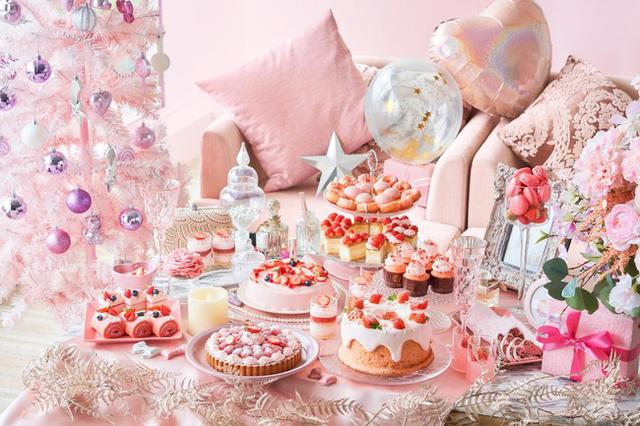 画像1: 【ヒルトン東京お台場】ピンクづくしのストロベリーデザートビュッフ「Christmas Girl's Room」