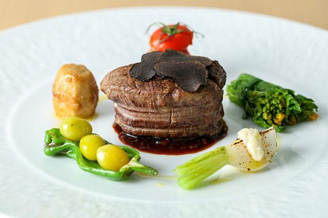 画像: ●Viande(メイン肉) 静岡そだち和牛フィレ肉のロティ、ソースペリグー伊東産5種の温野菜添え
