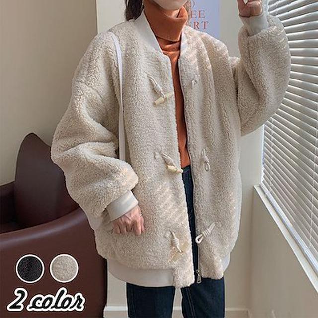 画像: [Qoo10] 2色ファーコート ミンクカシミアコート