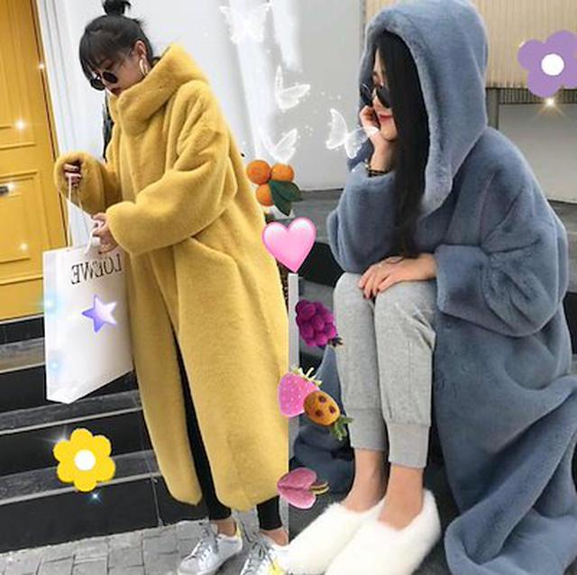 画像: [Qoo10] 韓国ファッションもこもこボリュームファー もふもふ暖かいボリュームファーコート ゆったりする カジュアル コート レディース 冬