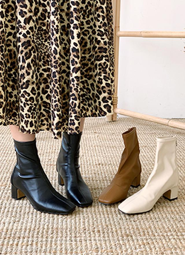 画像: [DHOLIC] 裏起毛スクエアアンクルブーツ・全3色シューズ・靴ブーツ|レディースファッション通販 DHOLICディーホリック [ファストファッション 水着 ワンピース]