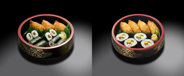 画像: 左)東日本エリアの『助六』 右)東日本エリア以外の『助六』