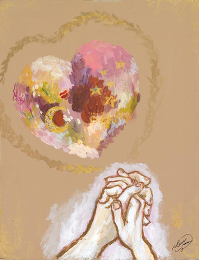 画像: 2021年ゴディバのバレンタイン限定コレクション「きらめく想い」から受けたインスピレーションをもとに描いたアーティスト「のん」の作品。