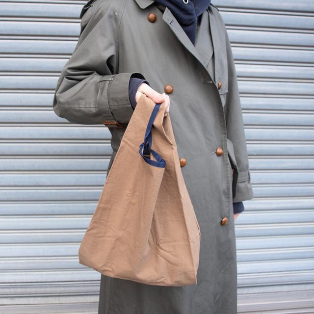 画像3: 大人が持ちたいお洒落カラーの「エコバッグ」新色ネイビー・ブラウンが登場