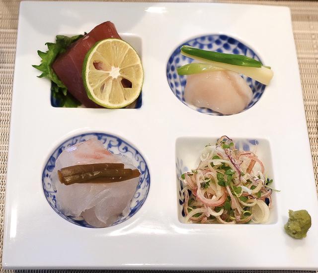 画像: ●鮮魚のお造り 本鮪、真鯛、ホタテ