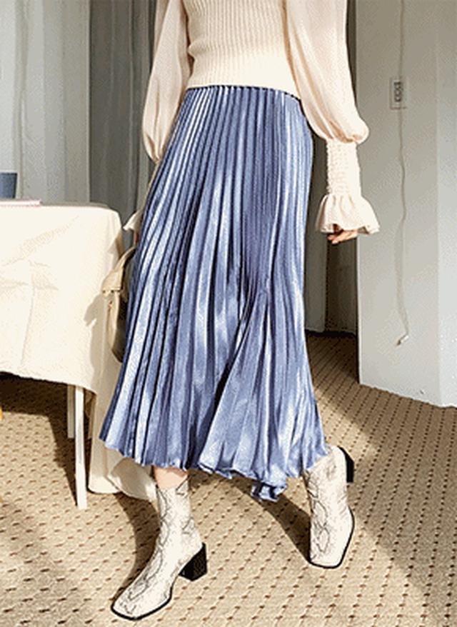 画像: [DHOLIC] サテンプリーツスカート・全3色スカートスカート|レディースファッション通販 DHOLICディーホリック [ファストファッション 水着 ワンピース]
