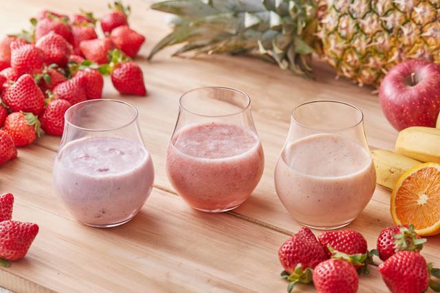 画像: 人気のいちご「あまおう」をミックスした3種のジュース