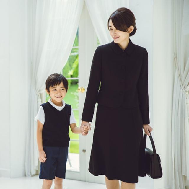 画像: <お受験スーツ> スタイル:2種類 / 価格:10,000円(税別表記) オプション:お受験用バッグ