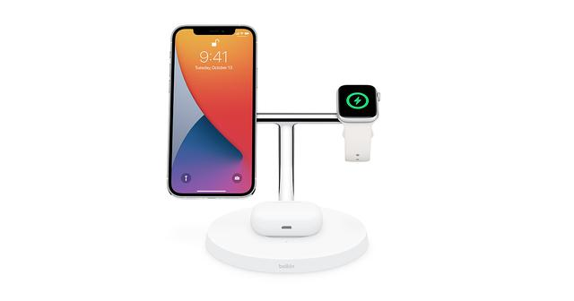 画像: Belkin BOOST↑CHARGE PRO 3-in-1 Wireless Charger with MagSafe - ホワイト