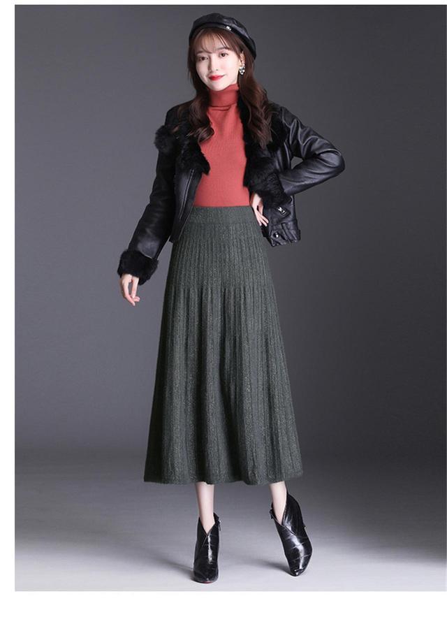 画像2: プリーツニットロングAラインスカート