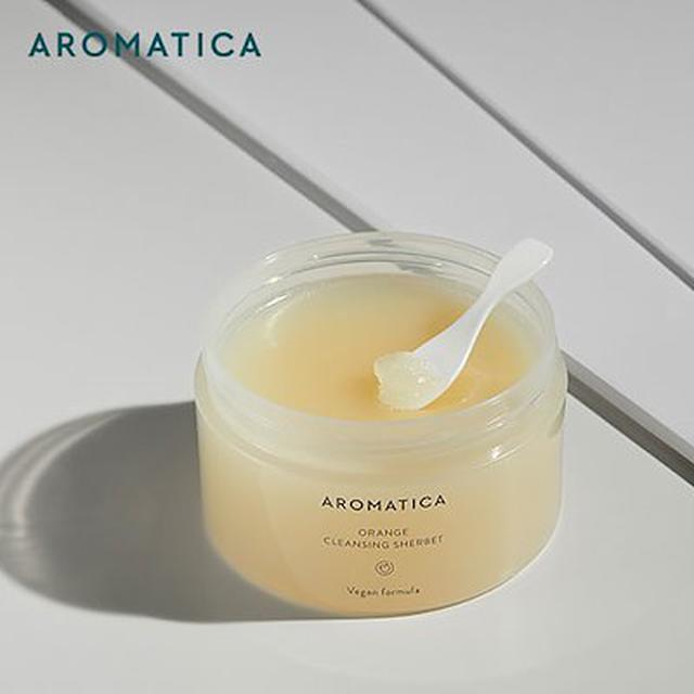 画像: [Qoo10] [Aromatica本社直営]バームタイプのクレンザー/オレンジクレンジングシャーベット150g/バームタイプ/過多油分/ブラックヘッド/スーッと溶けるシャーベットタイプ