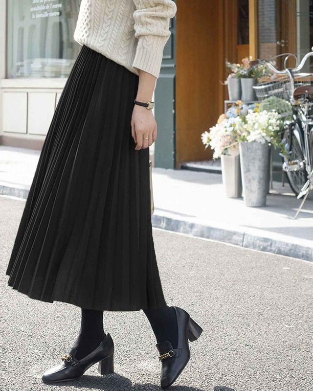 画像2: スエードプリーツロングスカート