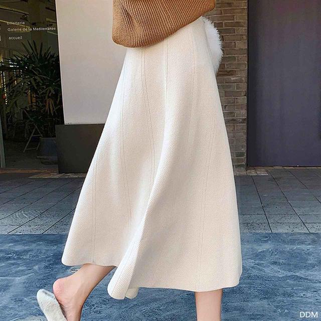 画像1: ニットロングバルーンスカート